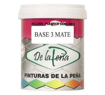 Pintura plástica Base 3 Mate