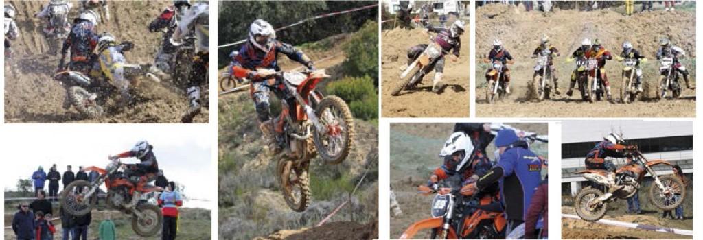 Jaime saltando con la moto en competición de motocross