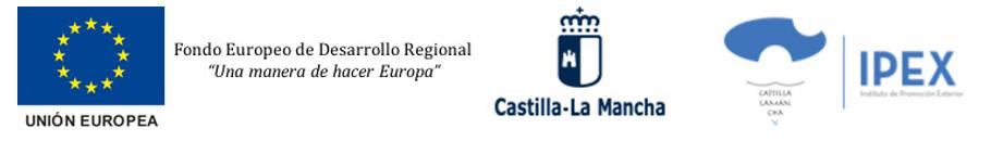 logos de Unión Europea IPEX y de Castilla La Mancha
